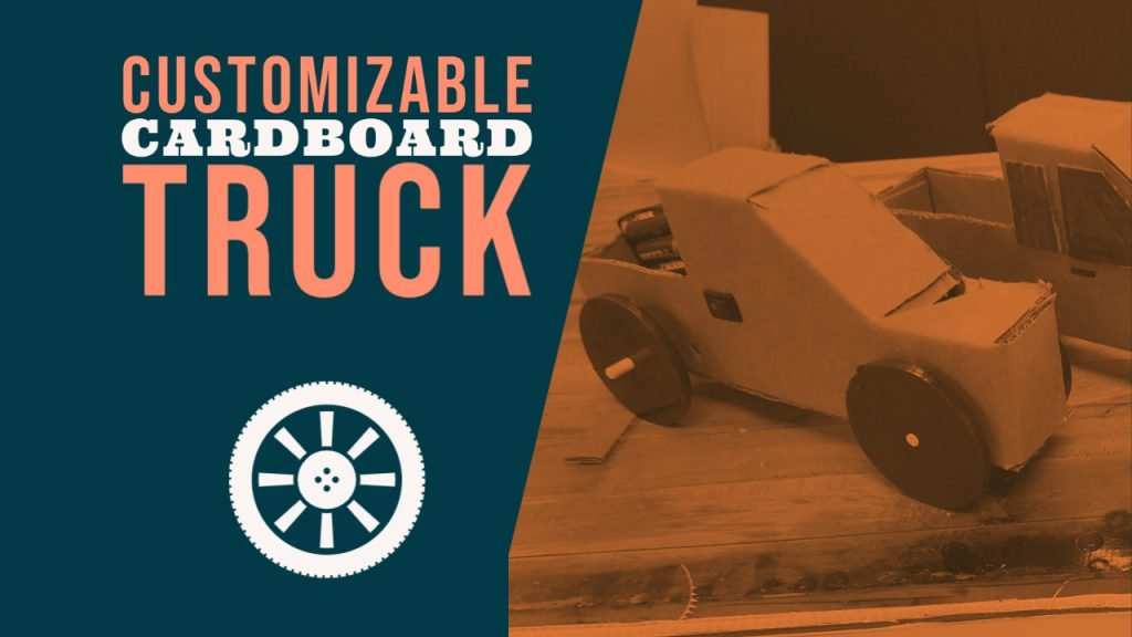 make a cardboard truck project using only a cereal box
